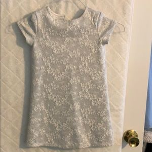 Old Navy toddler girl's silver jacquard dress 5T